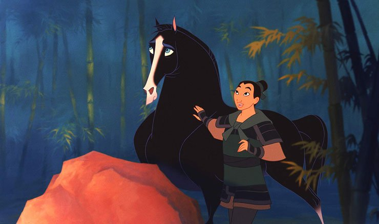 Mulan with her horse