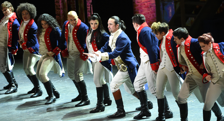 Scene of the Hamilton play portraying the importance of being a team player which is a good trait in professional development.